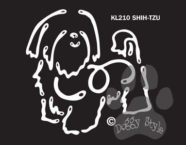 K Line Shih Tzu Dog Car Window Decal Tattoo http://doggystylegifts.com/products/k-line-shih-tzu-dog-car-window-decal-tattoo