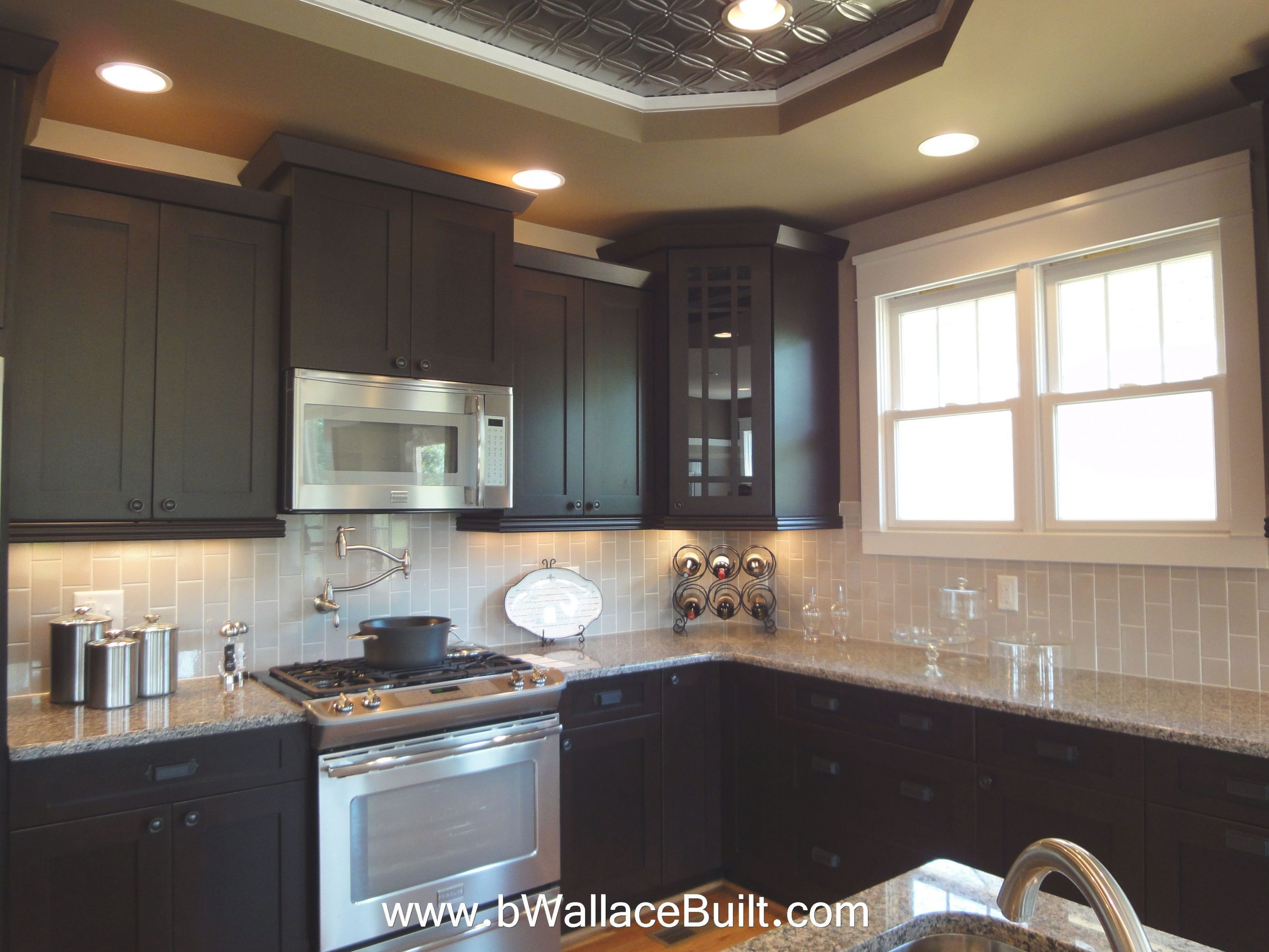 Dark Kitchen Cabinets With Light Granite En 2020 Cuisine