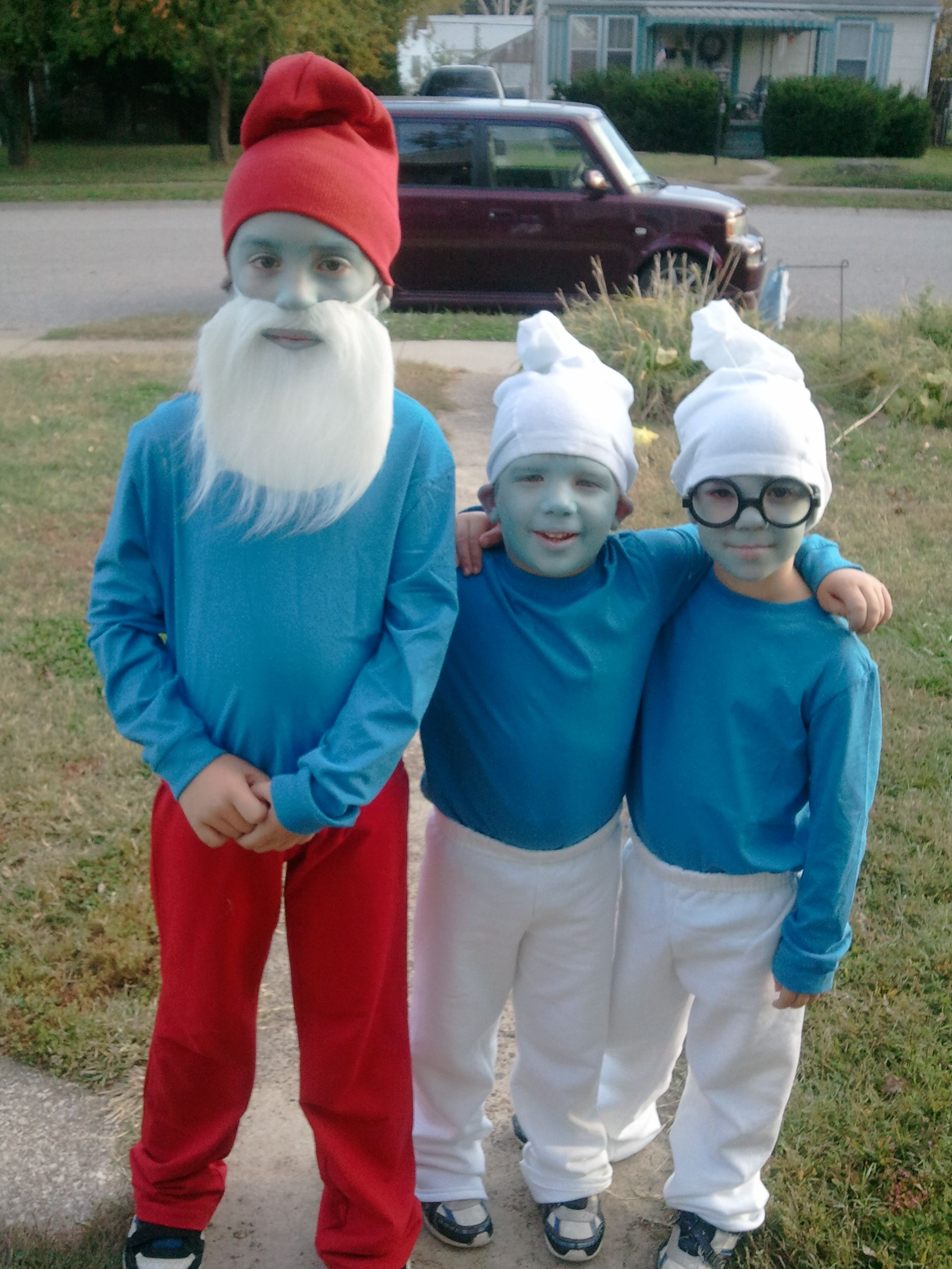 Home made smurf costumes. The cutest, sweetest kids EVER wearing ...