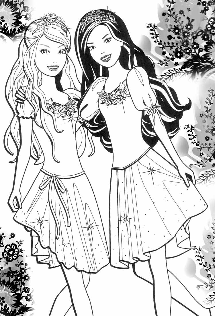 Barbie Beautifu Girls Coloring Pages | coloring | Pinterest | Barbie ...
