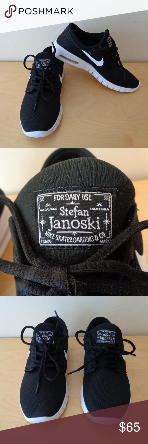 eaeb80a87b Nike Youth SB Stefan Janoski Max Sneakers NEW NEW Nike Youth Size 7 SB  Stefan Janoski Max Big Kids Black Skateboarding Sneakers Retail $95 New  without Box ...