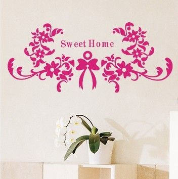 Direct Selling Top Fashion Large Sweet Home Wall Stickers Vinyl Decal  Decoration Tv Sofa Flower Pattern