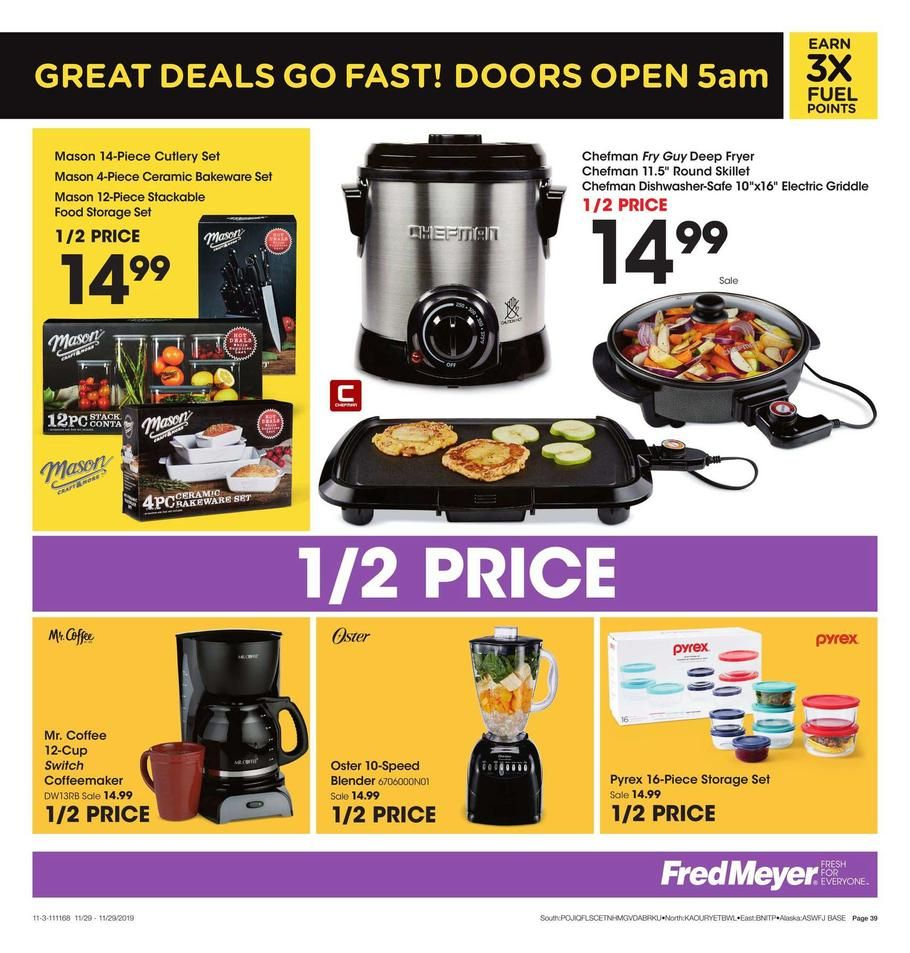 Fred Meyer Black Friday Ad Scan, Deals and Sales 2019 The