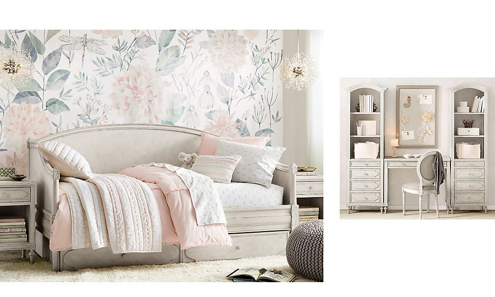 Shop Bellina Arched Daybed Heirloom White In 2020 Girl Bedroom