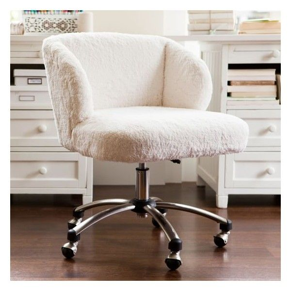pb teen sherpa wingback desk chair, ivory at pottery barn teen