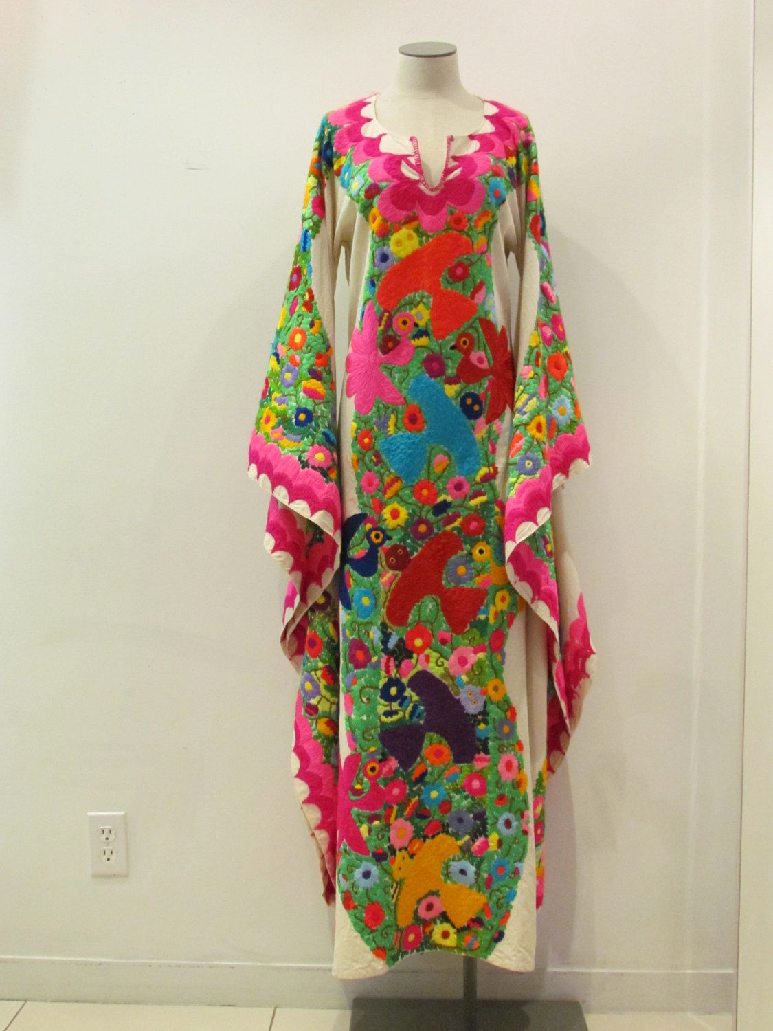 Wonderful Beautiful Hand Embroidered Mexican Dress From The State Of Jalisco.  $1,995.00, Via Etsy. Amazing Ideas