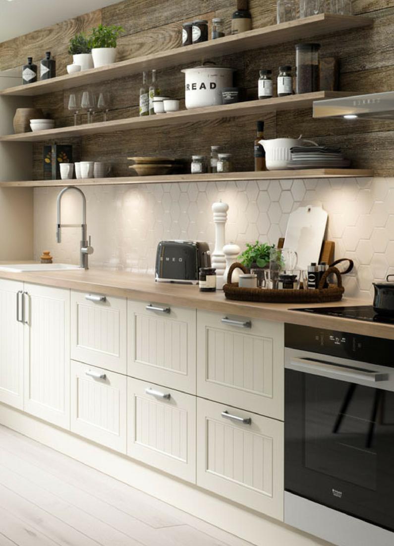 Küche, Weiß, Skandinavisch, Landhaus, Landhausstil, Landhausküche,  Skandinavischer Stil, Holz