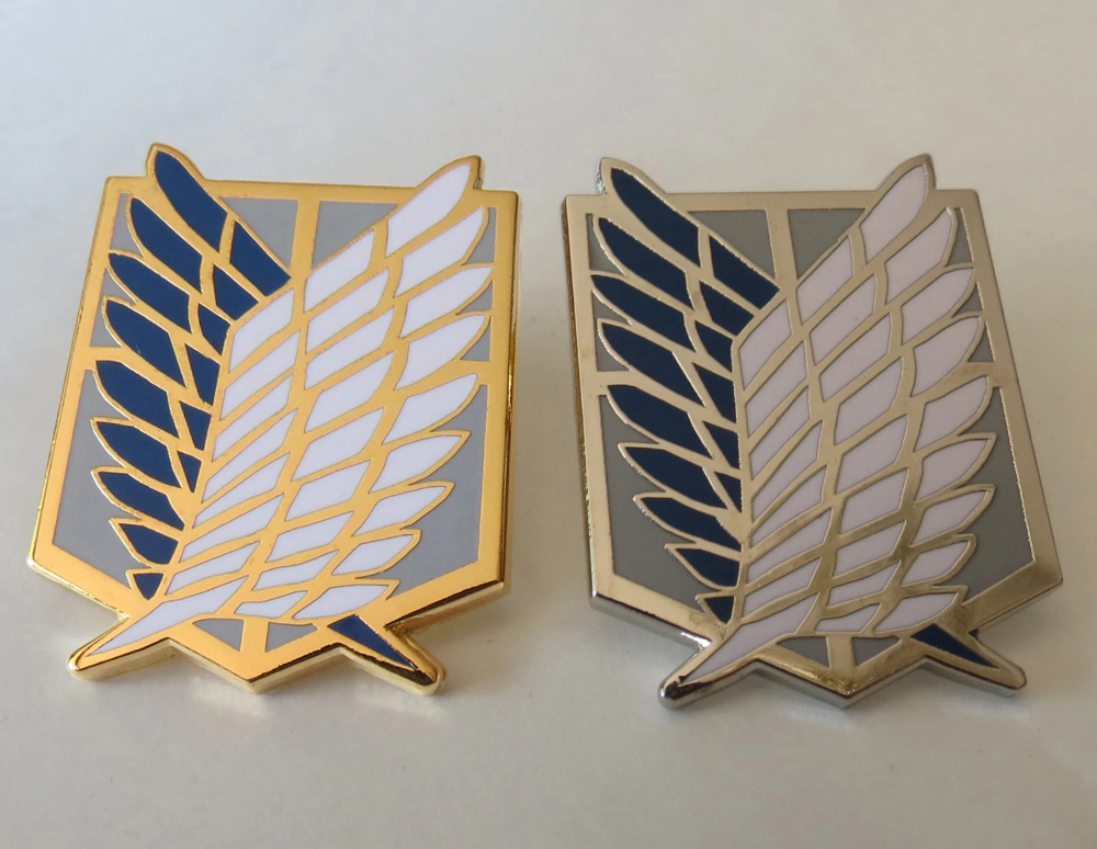 Attack On Titan Badge Anime Peripheral Pins Scout Regiment Logo