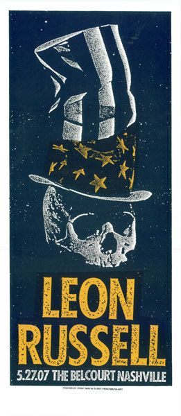 Leon Russell Gigposter Concert Poster Design Gig Posters Poster