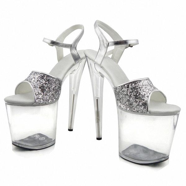 Free Shipping  Buy Best Gorgeous gold silver glitter high heels 8 ... 7a4192d44d15