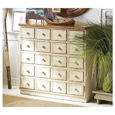 Andover Cabinet Weathewhite White With Espresso Top By Potterybarn 80