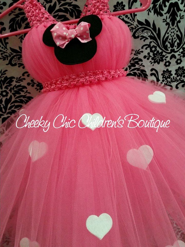 fad9cd58fea47 Pink Minnie Mouse inspired tutu gown/dress | Cheeky Projects ...