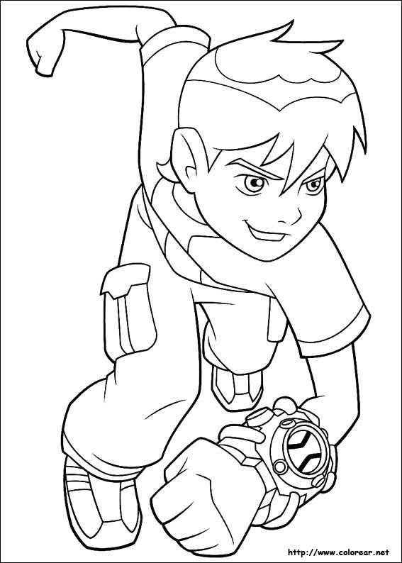 Ben 10 | Creativity: Coloring Pages | Ben 10 para colorear, Ben 10