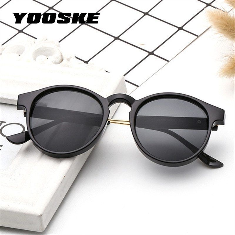 403ddf0e7be YOOSKE Retro Round Sunglasses Men Women Unisex Vintage Design Small Sun  Glasses  fashion  clothing