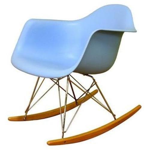 eames style molded plastic rocker in blue 144.00