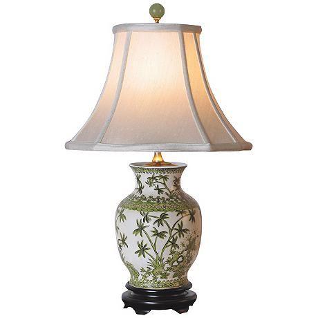 Palm Tree Porcelain Vase Table Lamp G7013 Lamps Plus Vase Table Lamp Table Lamp Jar Table Lamp