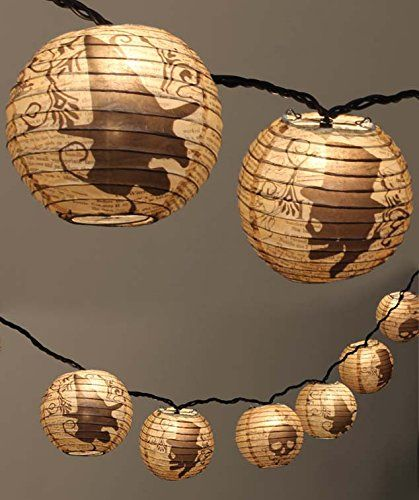 BETHANY LOWE Gothic Silhouette Skeleton and Witch String Lights