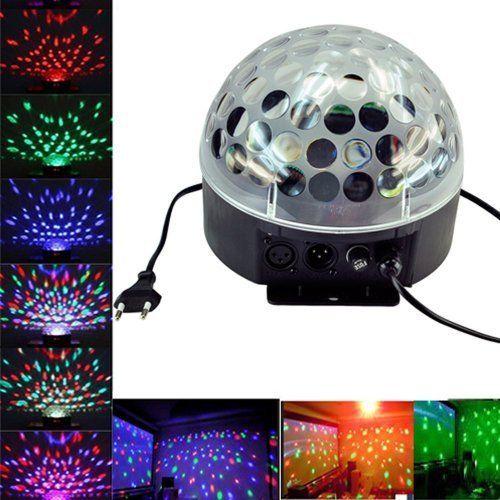 Ediors DMX512 6 LED Disco DJ 6 Color Changing Stage Lighting LED RGB