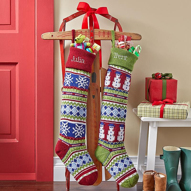 Impress St Nick With This Old Fashioned Sweater Look Stocking It S Extra Long To Hold Even More Goos