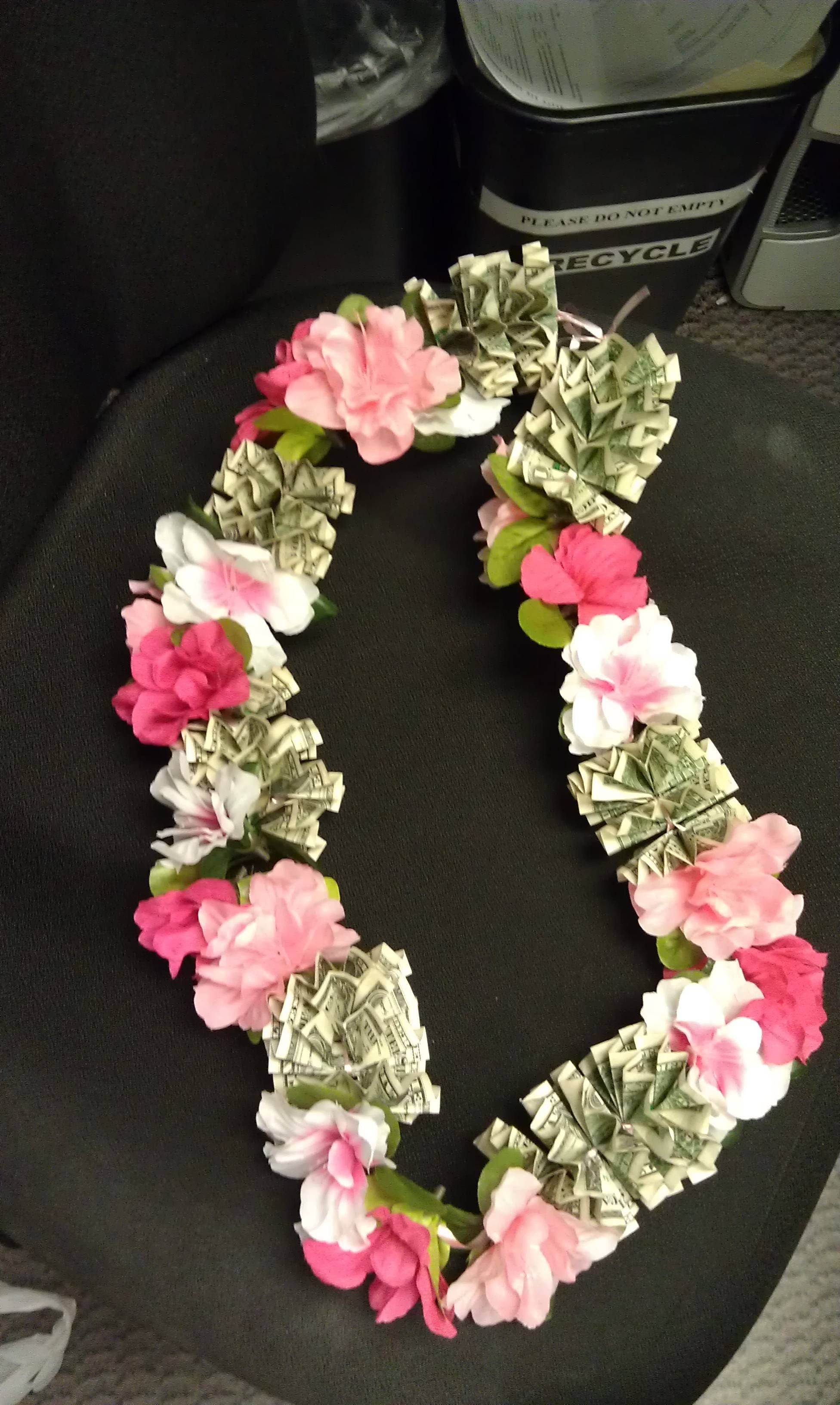 The most awesome images on the internet money lei leis and apwthis is the money lei i made you can make it with as dhlflorist Choice Image