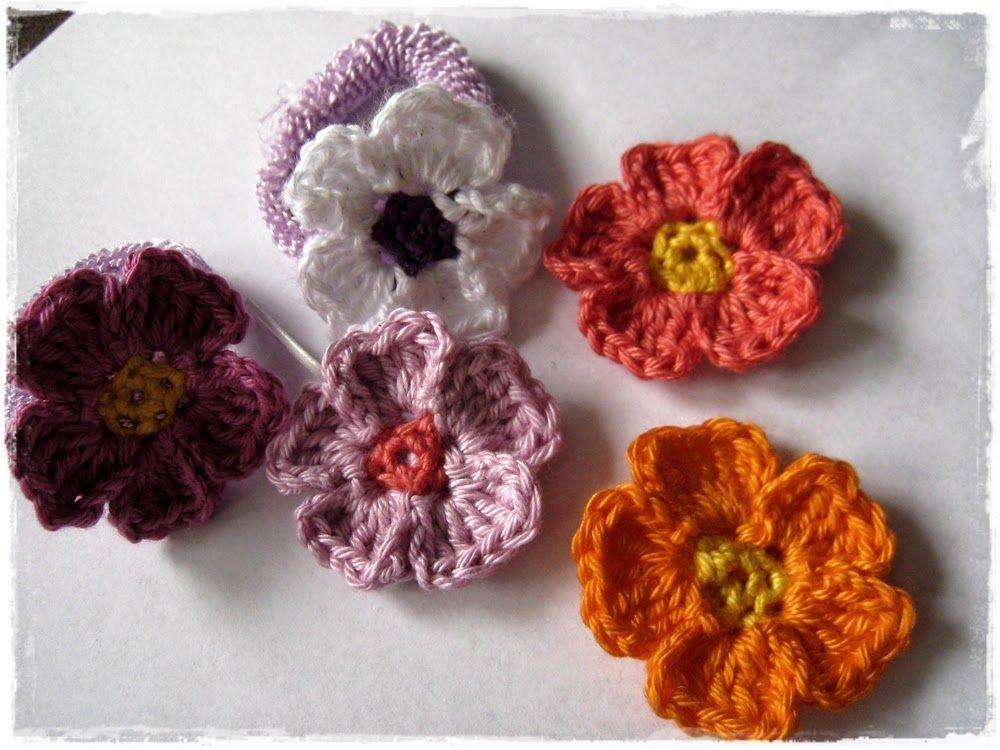 Kleines Glück Im Mausehaus Diy Primel Blüten Häkeln Und Haarschmuck
