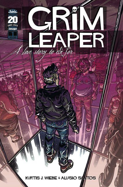 Grim Leaper, a four issue series distributed by Image Comics, is about a guy named Lou Collins who falls in love while stuck in limbo after his untimely, gruesome death. Go ahead, laugh, it's a romantic comedy with all the gore the rom-coms have been missing!