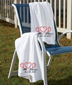 Set of Marriage Embroidered Beach Towels Wedding Bridal Gifts for Brides, http://www.amazon.com/dp/B00ICVERG2/ref=cm_sw_r_pi_n_awdm_.SiDxbRY3R9JN