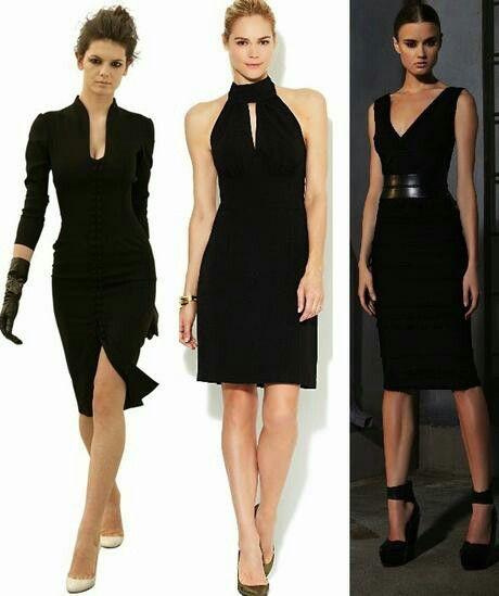 Como lucir un vestido negro de dia