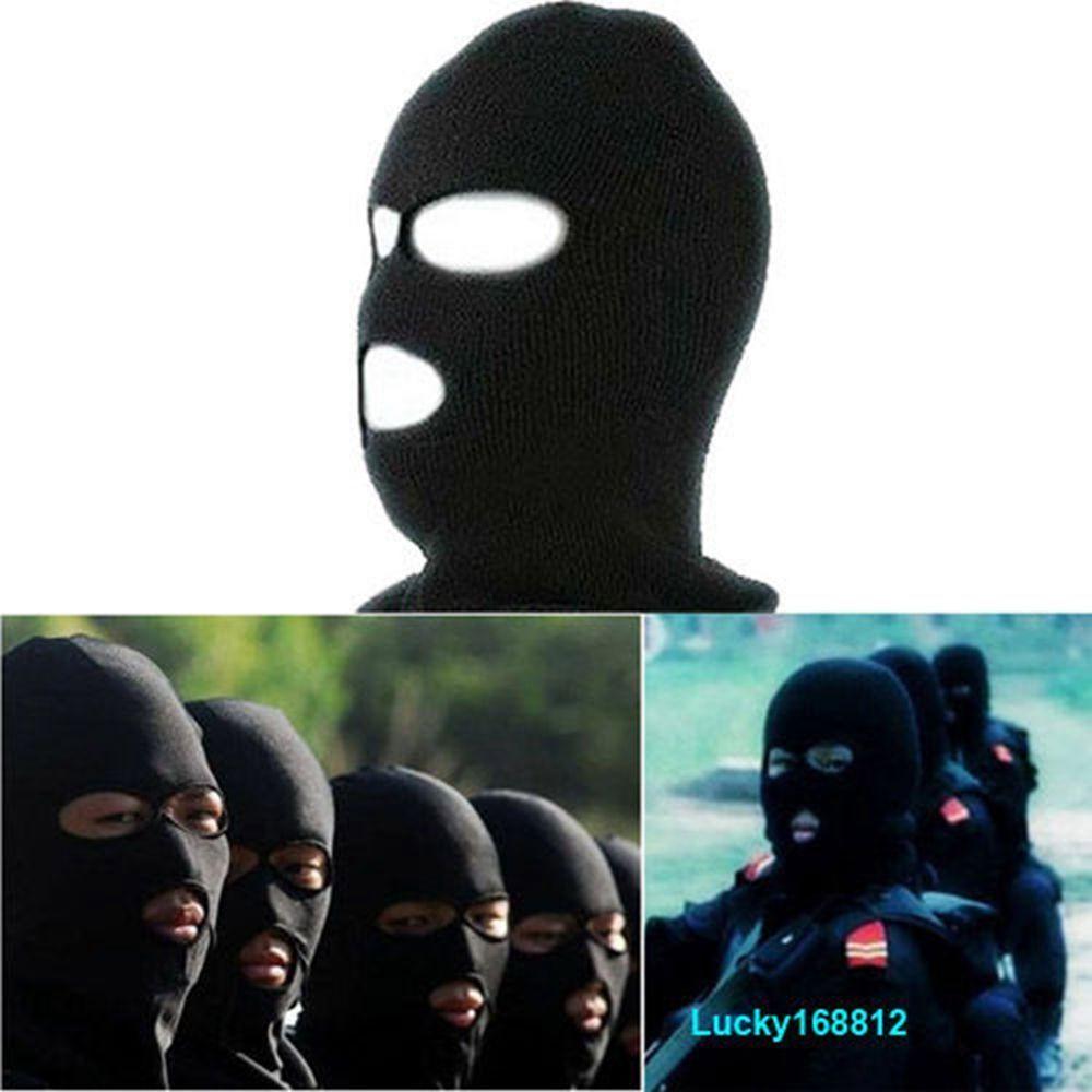 2.78 AUD - 3 Hole Ski Mask Warm Balaclava Black Knit Hat Face Shield  Beanie Cap Snow Winter  ebay  Lifestyle 837aebd0849f