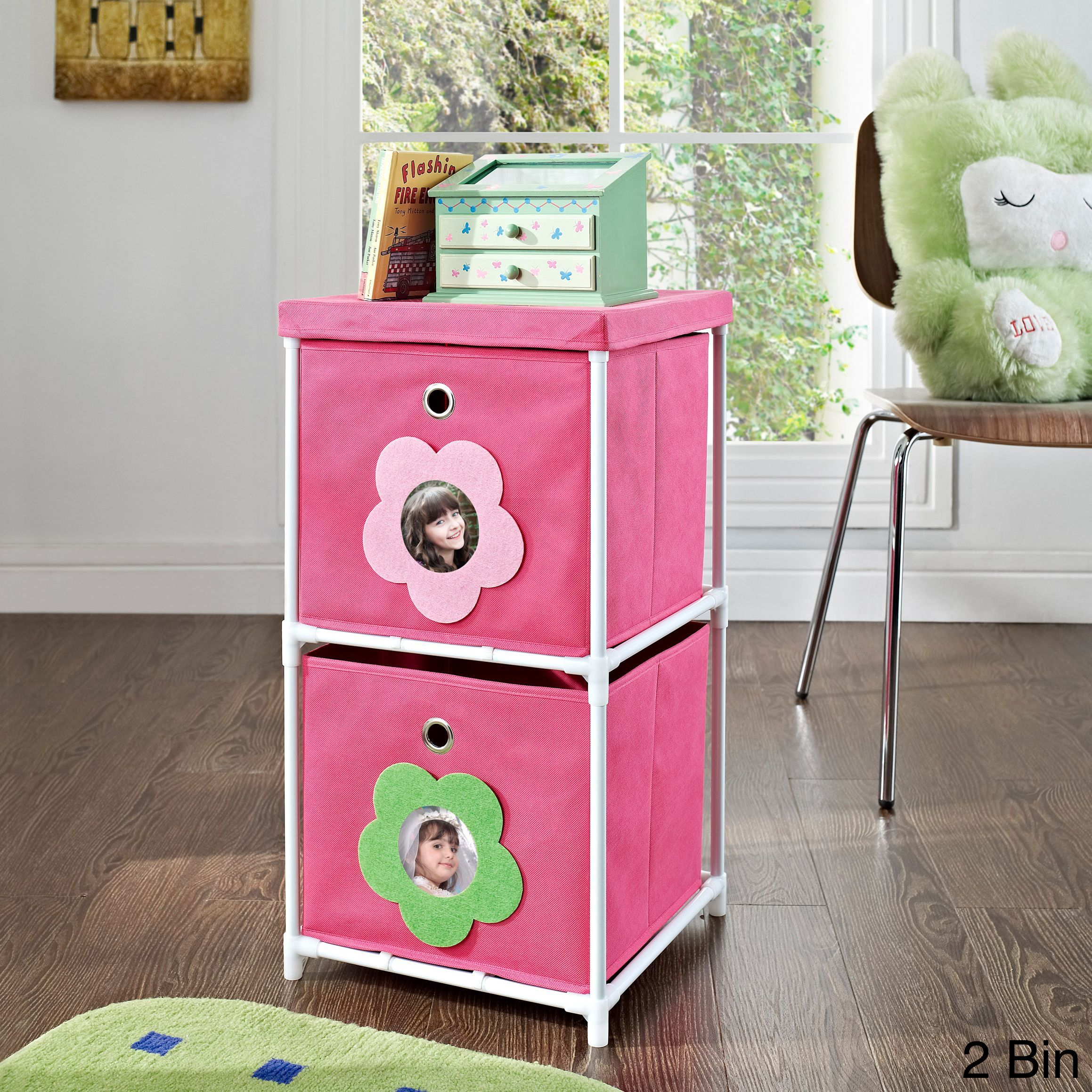 Altra kidsu pink flower bin storage system products pinterest