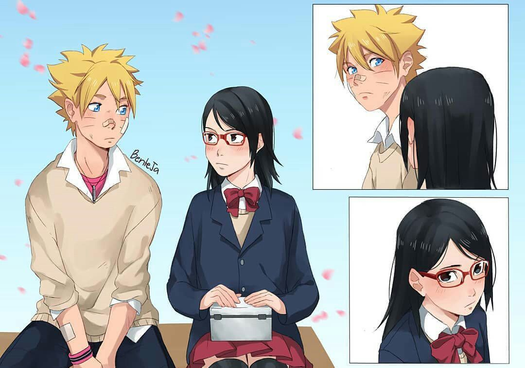 Love Story In Konoha Village Borusara Animasi Pasangan Animasi Gambar Anime