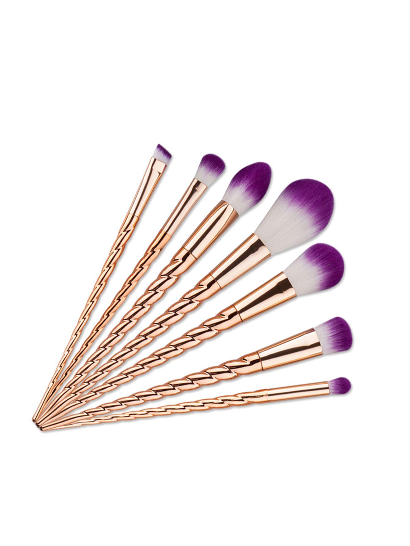 c7074c9316 Shop Gold Unicorn Design Makeup Brush 7PCS online. SheIn offers Gold  Unicorn Design Makeup Brush 7PCS & more to fit your fashionable needs.