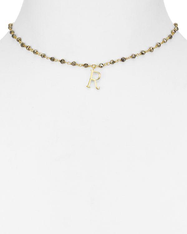 "Ela Rae Natalie Initial Pendant Necklace, 14"""