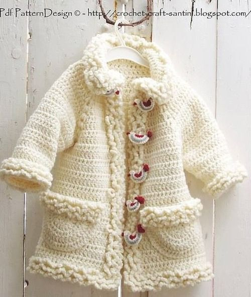 8b4a9ebff Winter White Sophie Coat with Bird-Buttons pattern by Sophie and Me ...