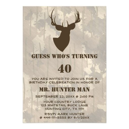 Hunting Mens Buck Animal Birthday Party Funny Magnetic Card