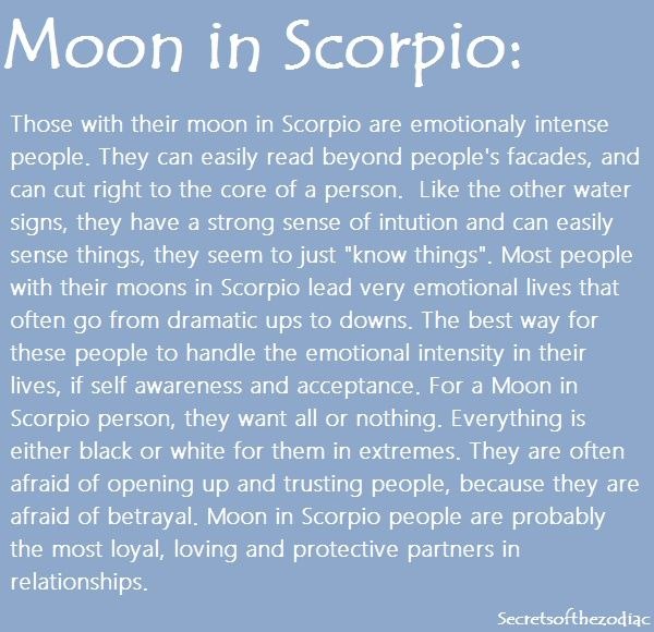 Scorpio moon man in love