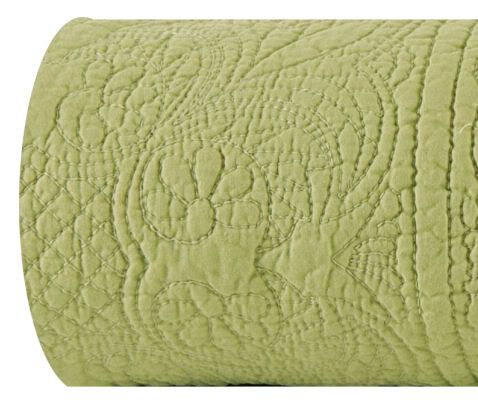 Green Quilts And Coverlets | SOLID MATELASSE QUILTED COVERLET ~ SIZE QUEEN  ~ COLOR SAGE GREEN.