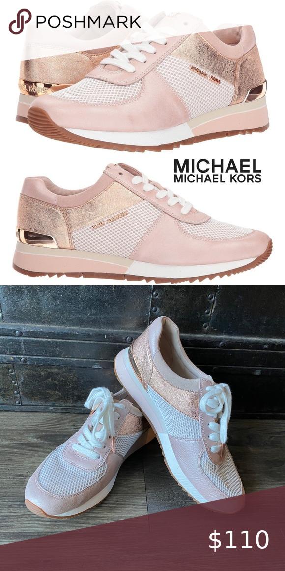 Michael Kors Rose Gold Allie sneakers Michael Kors