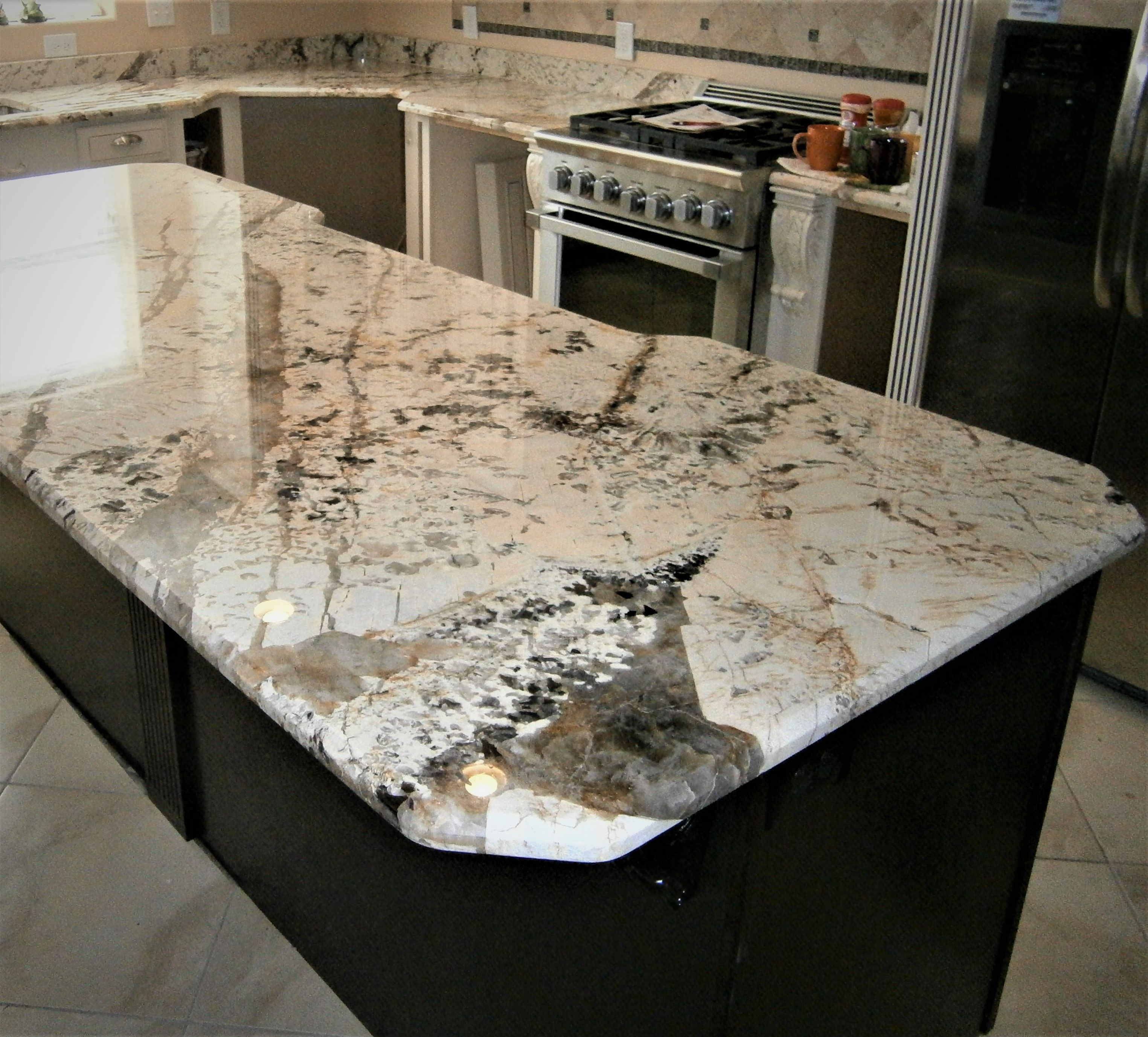 Donu0027t Be Afraid To Go Bold With Your Next Kitchen Remodel! Love The · Stone  InteriorEngineered StoneCustom ...