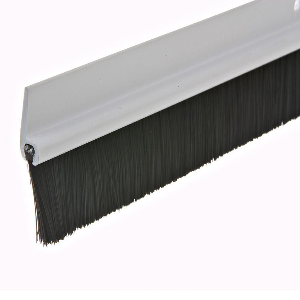 Frost King E O 1 3 4 In X 36 In White Plastic And Brush Door Sweep C35ph The Home Depot Door Sweep White Interior Doors Screen Door