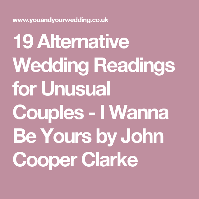 32 Modern Wedding Readings For Non-traditional Couples