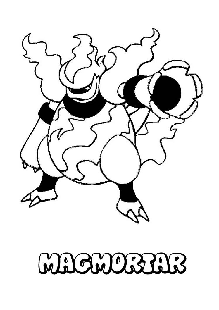 Kostenlose Ausmalbilder Pokemon : Magmortar Pokemon Coloring Page More Fire Pokemon Coloring Sheets