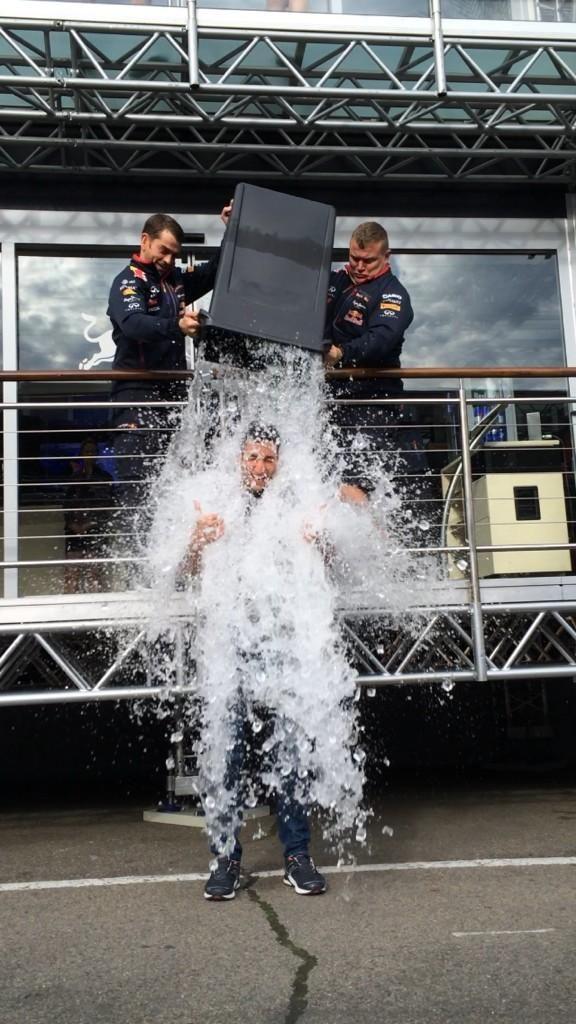 Daniel Ricciardo :Just completed the #ALSIceBucketChallenge