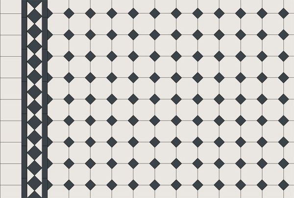 Art Deco Black And White Octagon Tile Patterns