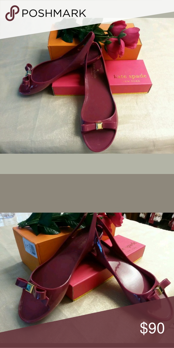 f2dc724c91dce KATE SPADE WOMENS JELLY SANDAL WITH BOW SIZE 8 AUTHENTIC super cute new  kate spade Shoes Sandals