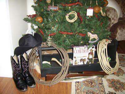 Cowboy Christmas Tree Christmas Decor Pinterest Cowboy christmas