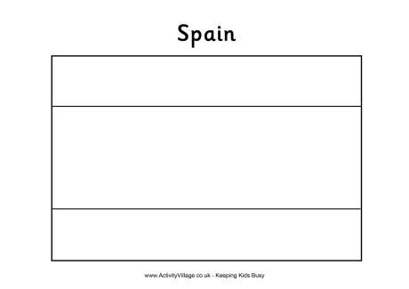 Printable Spain Flag Coloring Pages