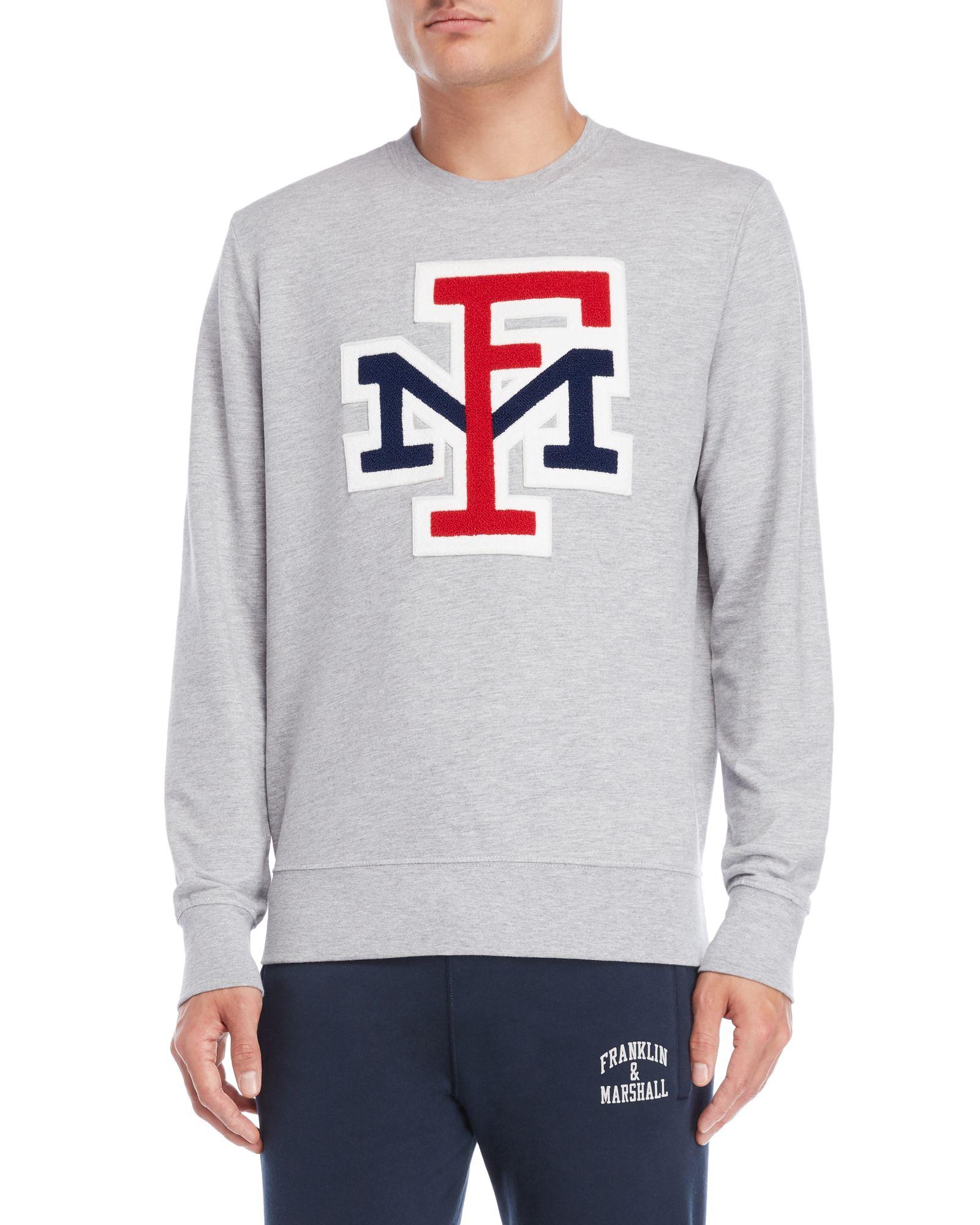 1bb8d7682df Franklin & Marshall Grey Varsity Logo Sweatshirt | *Apparel ...