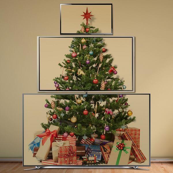 Samsung UltraHD SmartTV Television Christmas tree