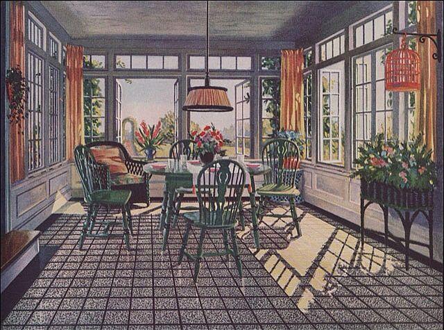 Breakfast room / sun porch example.